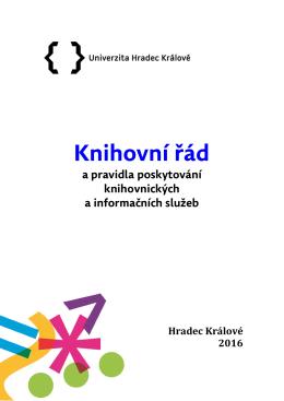 Knihovní řád - Univerzita Hradec Králové