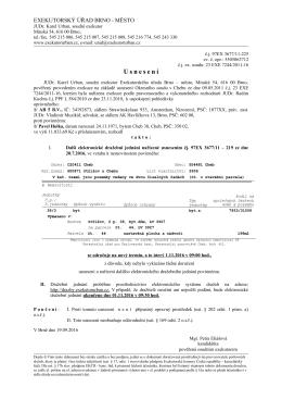 Dražební vyhláška - 273c, ExeÚ Brno-město