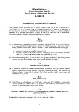 Obecně závazná vyhláška č. 3/2016