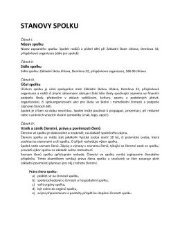 stanovy spolku - Základní škola Jihlava, Demlova 32, příspěvková