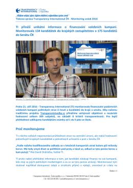 Tisková zpráva - Transparency International