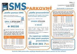 SMS parkovné - návod - Technické služby Opava sro