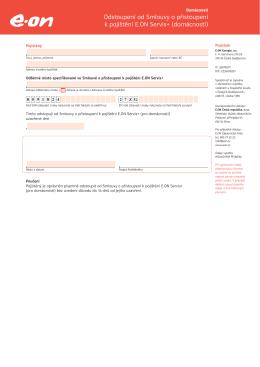 Formulář pro odstoupení