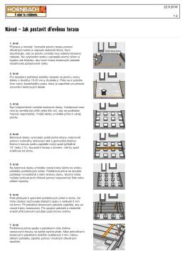 Návod - Jak postavit dřevěnou terasu