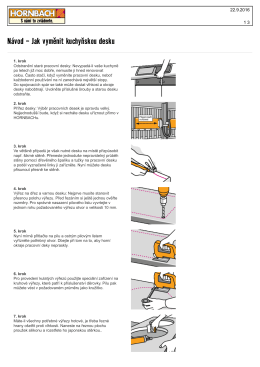 Návod - Jak vyměnit kuchyňskou desku
