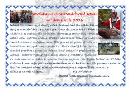 Pozvánka na IX.Svatováclavské setkání lidí dobré vůle 2016 vské