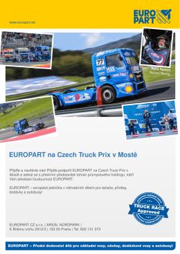 EUROPART na Czech Truck Prix v Mostě