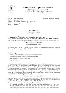 Městský úřad Lysá nad Labem, Odbor životního prostředí