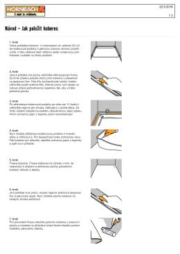 Návod - Jak položit koberec