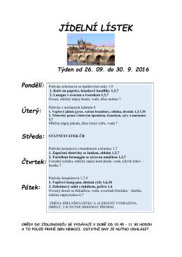 Příští týden (26. září až 2. října)