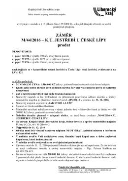 zveřejňuje v souladu s § 18 zákona číslo 129/2000 Sb