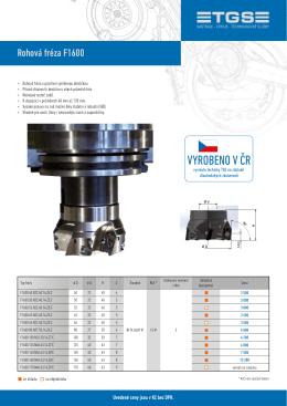 Produktový list F1600, verze září 2016