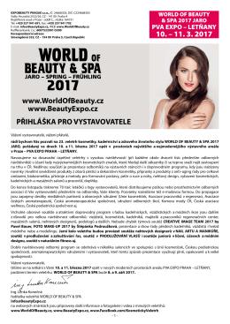 PŘIHLÁŠKA PRO VYSTAVOVATELE 10. – 11. 3. 2017 www