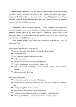 popis realizace chd-mendryka - Registr poskytovatelů sociálních