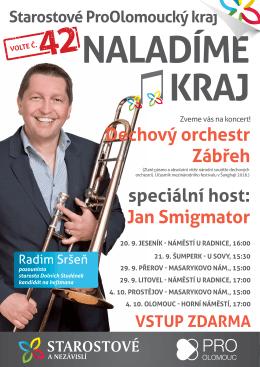 Seznam koncertů - Starostové ProOlomoucký kraj