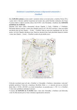 Úplné uzavření ulice Hromádky z Jistebnice