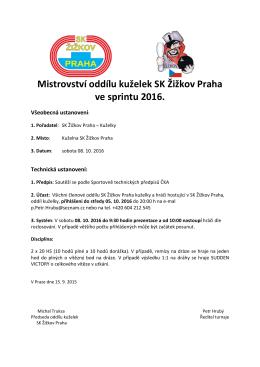 Podrobnosti zde - SK Žižkov Praha