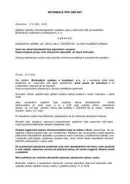 informace pro občany - KHS JMK, Krajská hygienická stanice