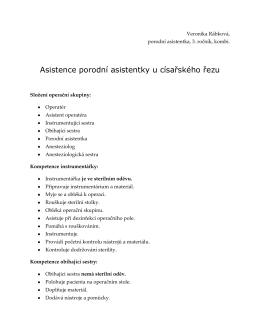 Asistence porodní asistentky u císařského řezu