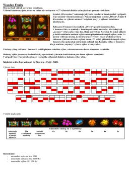 Wooden Fruits- herní plán