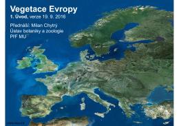 Vegetace Evropy
