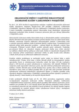 tiskové zprávě - Zdravotnická záchranná služba Libereckého kraje