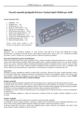 Návod k montáži předpažbí D-Force Tactical Spirit M2016