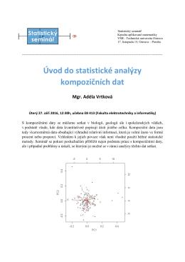 Úvod do statistické analýzy kompozičních dat