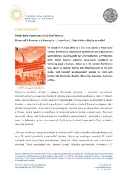 Tisková zpráva - Filozofická fakulta