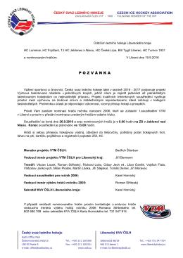 POZV Á NKA - Krajský svaz ledního hokeje Liberecký kraj
