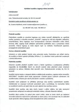 Vyhlášení soutěže o logotyp města Jaroměře