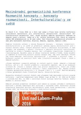 Mezinárodní germanistická konference