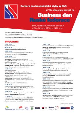 Ruské federace - Svaz průmyslu a dopravy České Republiky