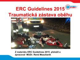 ERC GL 2015 Traumatická zástava oběhu