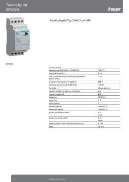 Technický list SP202N