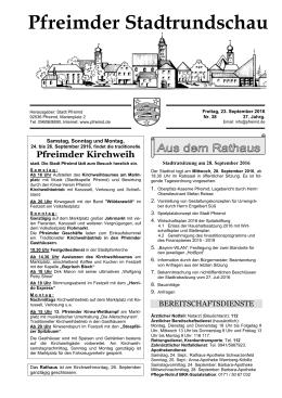 Pfreimder Stadtrundschau
