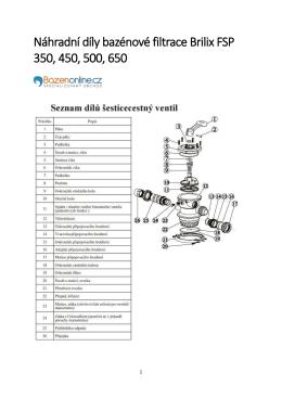 Náhradní díl azénové filtra e Brili FSP 0, 0, 00, 0
