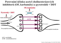 (OF, karbamáty) a pyretroidů + DDT