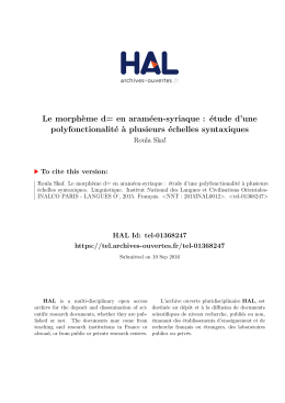 Structure de DC du DR dans Jean : P et G - Tel