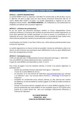 8642 - Proposition Règlement JEU PANINI PREMIUM v3 03 08 2016
