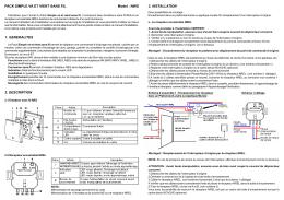 3. INSTALLATION PACK SIMPLE VA ET VIENT SANS FIL Model