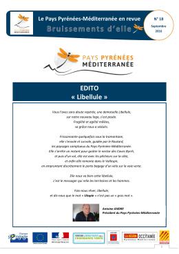 EDITO « Libellule - Pays Pyrénées Méditerranée