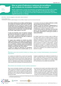 Synthèse - InVS - Santé publique France