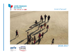 livret-2016 - Lycée Français de Kyoto