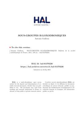 sous-groupes h-loxodromiques