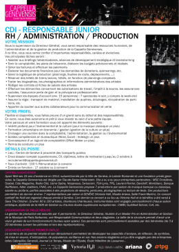 cdi - responsable junior rh / administration - HES