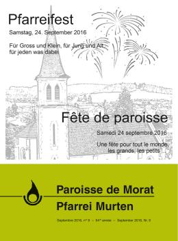 Paroisse de Morat Pfarrei Murten
