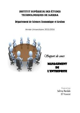 Management des entreprises - Institut Supérieur des Etudes