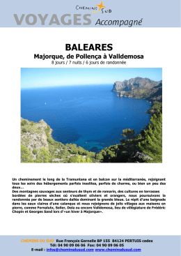 baleares - Chemins du Sud