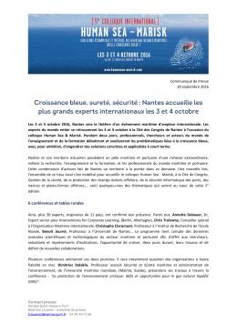 6 conférences et tables rondes - Le Grand Port Maritime de Nantes